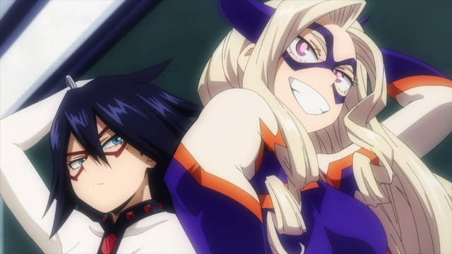 Midnight and Mt. Lady from the anime series My Hero Academia Season 5