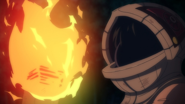"""Gugu about to """"breathe"""" fire from the anime series To Your Eternity"""