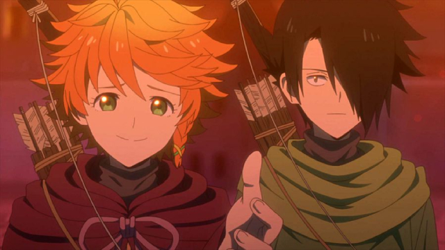 Emma and Ray from the anime series The Promised Neverland 2nd Season