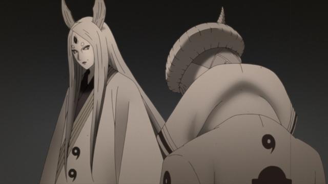 Kaguya and Isshiki Ōtsutsuki from the anime series Boruto: Naruto Next Generations