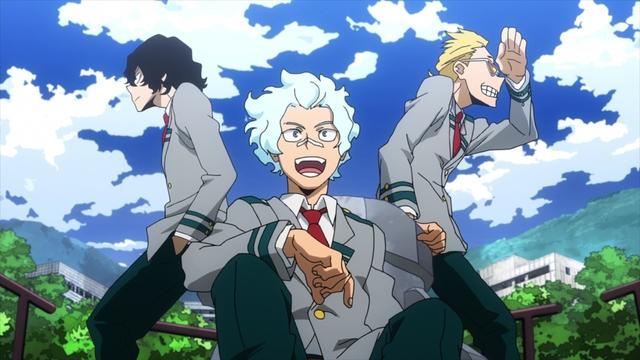 Aizawa, Shirakumo, and Yamada from the anime series My Hero Academia Season 5