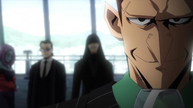 Members of the Meta Liberation Army from the anime series My Hero Academia Season 5
