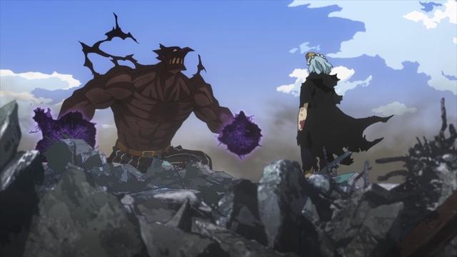 Shigaraki vs. Re-Destro from the anime series My Hero Academia Season 5