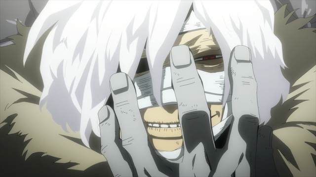 Shigaraki as the leader of the Paranormal Liberation Front from the anime series My Hero Academia Season 5