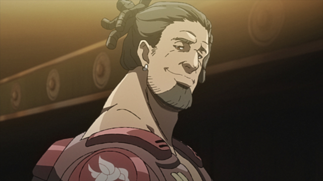 Chief from the anime series Nomad: Megalo Box 2