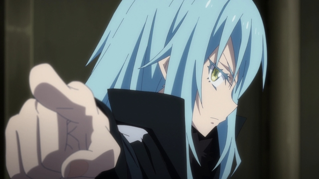 Rimuru calling out Clayman from the anime series That Time I Got Reincarnated as a Slime Season 2