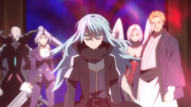 Rimuru, Beretta, Shion, Frey, and Carrion from the anime series That Time I Got Reincarnated as a Slime Season 2 Part 2