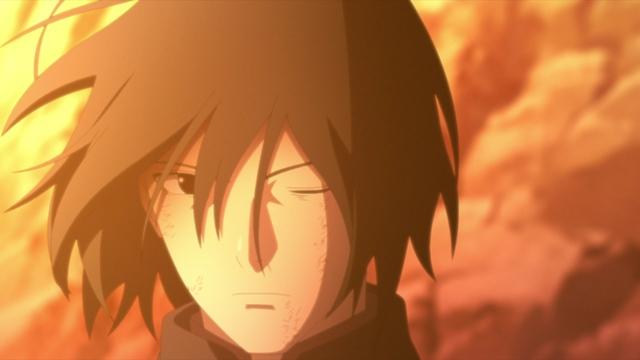 Sasuke without his Rinnegan from the anime series Boruto: Naruto Next Generations