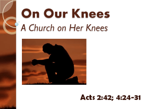 A Chruch on Her Knees - Doubtless Living