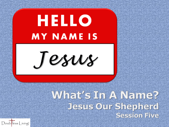 What's In A Name - Session Five - Jesus Our Shepherd