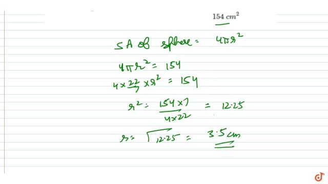 Find the radius of a sphere whose surface area is 15 c m^15