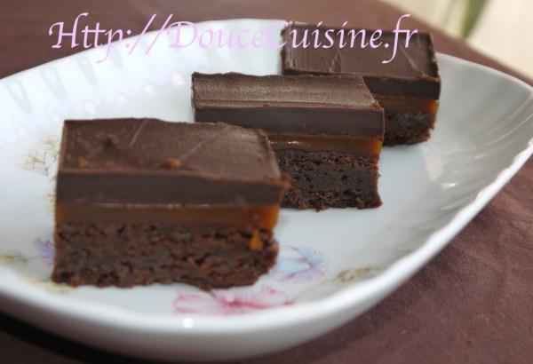 Carrés de chocolat au caramel