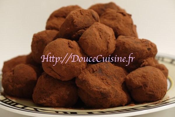 Truffes chocolat lacté caramel