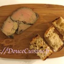 foie gras de canard cuit au gros sel