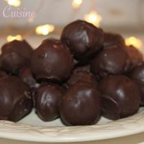 Truffes au chocolat noir menthe intense