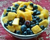 ananas et myrtilles