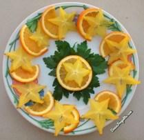 Carambole, orange et persil ; starfruit, orange and parsley