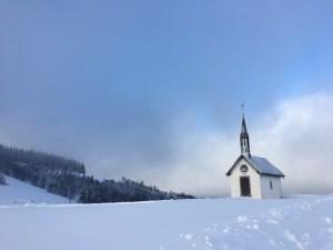 Chapelle des Vés enneigée