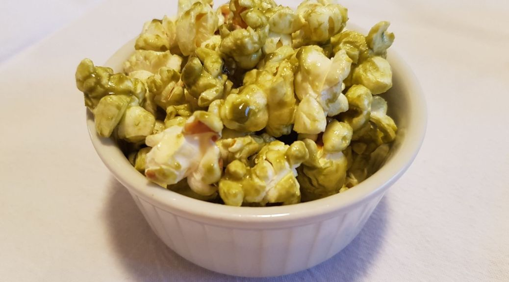 Popcorn au Matcha 抹茶爆米花 1