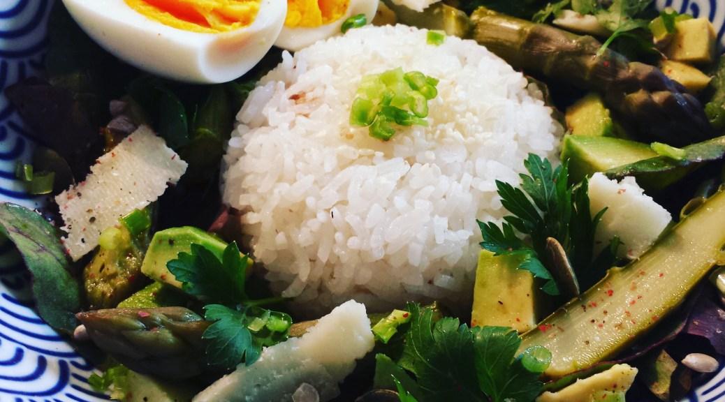 Simplement Bon riz salade asperges pecorino
