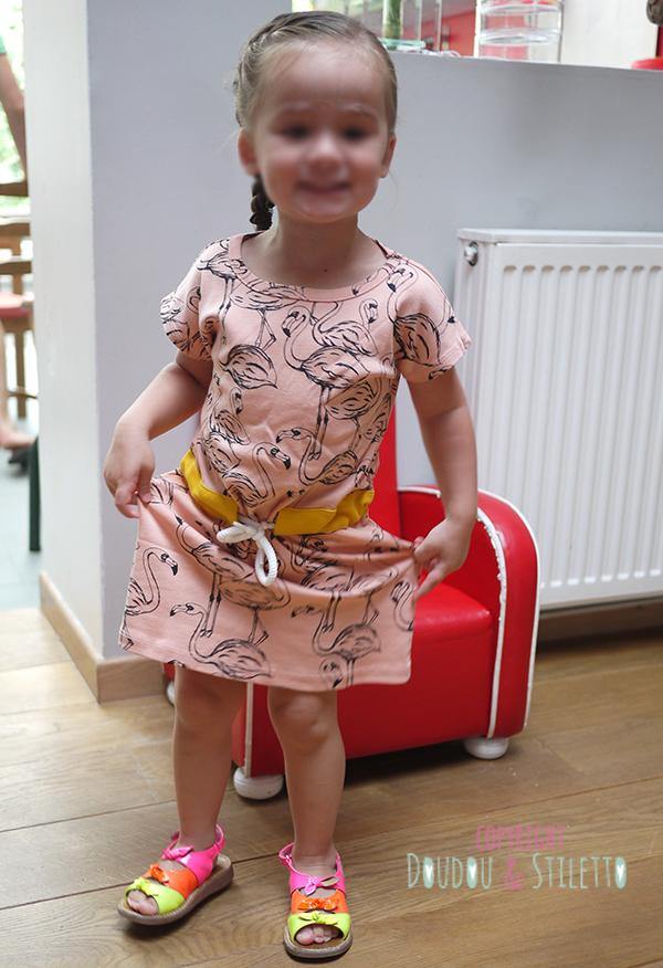 Robe Mini Rodini, chaussures Pom d'Api