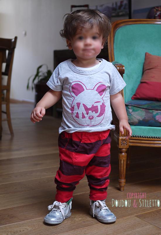 T-shirt Little Marc Jacobs, sarouel Eliane et Lena, baskets B&Co