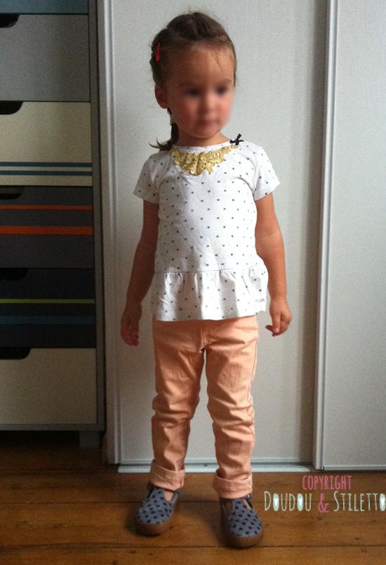 Jean Zara, chaussures Pom d'Api, t-shirt Zara