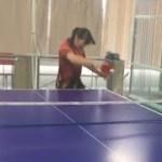 【卓球】馬龍もビックリの女子中学生がラケット総重量190㌘超!?ミユリーナの一撃バックドライブ!【馬龍カーボン×キョウヒョウネオ2・3】