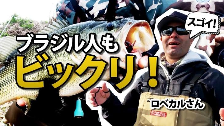 ブラジル人もビックリ!琵琶湖 北湖で巨バス釣り【ヘビキャロ エビシャッド】