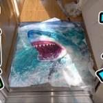 【恐怖】玄関を開けたらサメに襲われるドッキリがおもしろいwwww