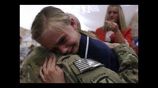 「感動の再会」戦地から帰ってきた兵士が子供にサプライズ ●涙なしでは見れません!