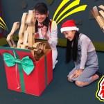 【ドッキリ】巨大クリスマスびっくり箱作ってみた!またちーちゃんに渡してドッキリ仕掛けてみたら…? 〜みるきっずくらぶ・みお〜【工作・DIY】
