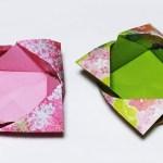 折り紙1枚 簡単で可愛い「箱」 Origami Easy and cute Box【音声解説あり】 / ばぁばの折り紙