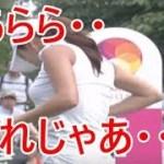 【貴重映像】アン・シネがスイング練習中に戸惑うハプニング公開!!