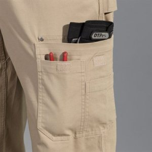 Flex fire hose pants pocket