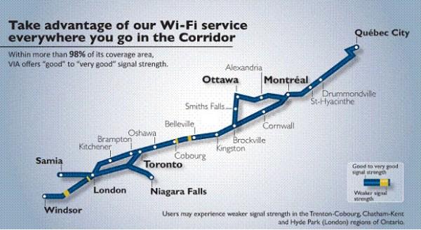 Bike Route of VIA Rail Canada