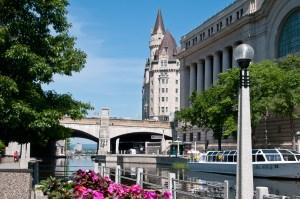 Rideau Canal and locks in Ottawa
