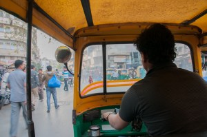View from an auto-rickshaw