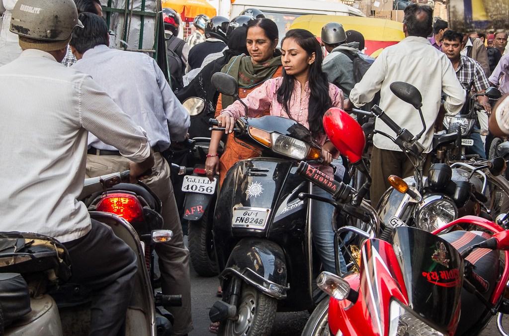 Wild traffic in Ahmedabad, India