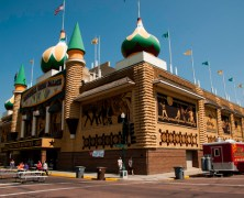 The world's only Corn Palace in Mitchell, South Dakota
