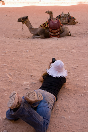Taking pictures of camels