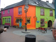 Colorful storefronts in Kinsale