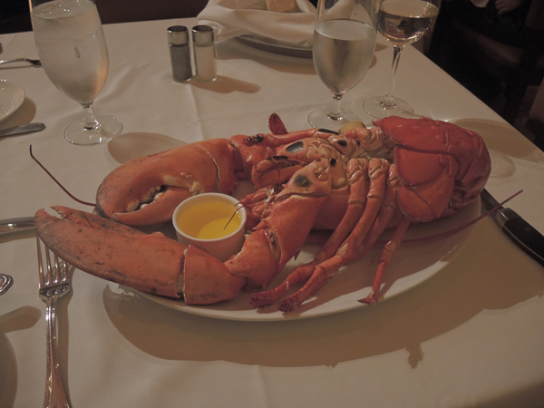 Bobby Flay Steak restaurant - three pound lobster