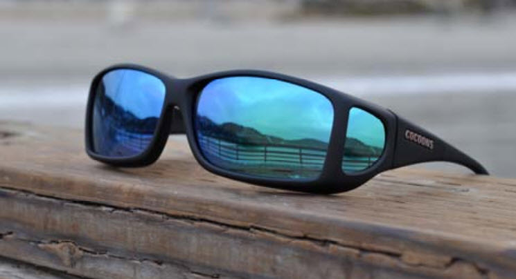 Cocoons sunglasses go right over your prescription lenses