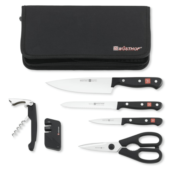 Wüsthof Gourmet 7-Piece Traveler Knife Set