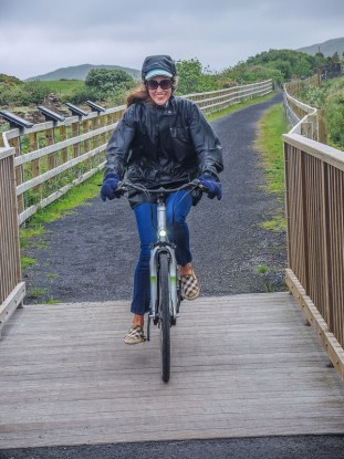 Bike riding with Electric Escapes on the Greenway in Mallaranny, County Mayo