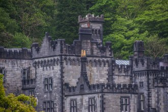 Kylemore Abbey with its beautiful Victorian walled gardens