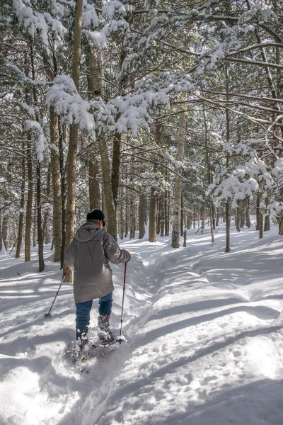 Snowshoeing at Grafton Ponds Outdoor Center