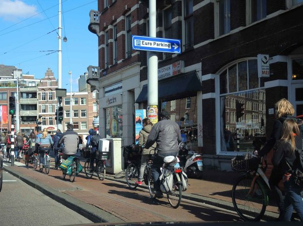 Amsterdam bike riders
