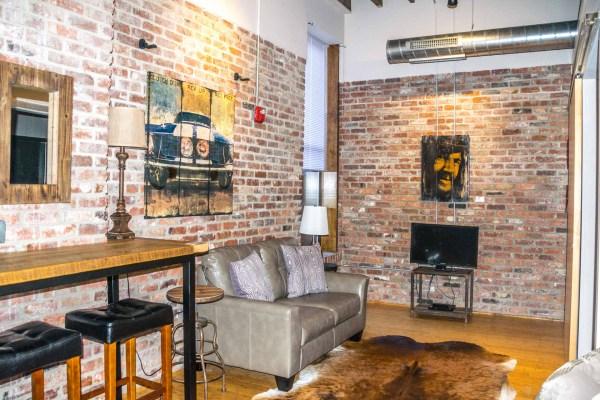 Music City Lofts living room